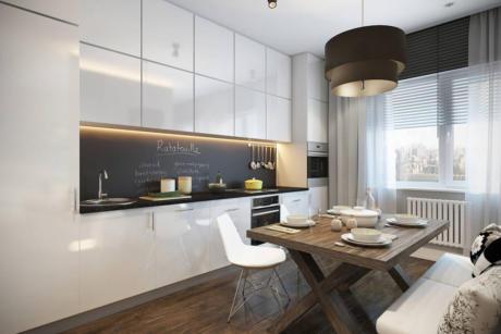 Кухня/столовая в  цветах:   Светло-серый, Серый, Черный, Темно-коричневый, Бежевый.  Кухня/столовая в  стиле:   Скандинавский.