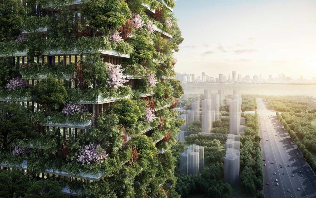 Жилые дома с настоящими деревьями на балконах: новый тренд