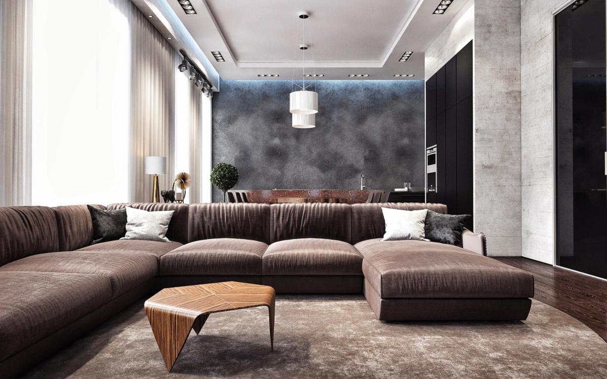 Модная двухкомнатная квартира для холостяка