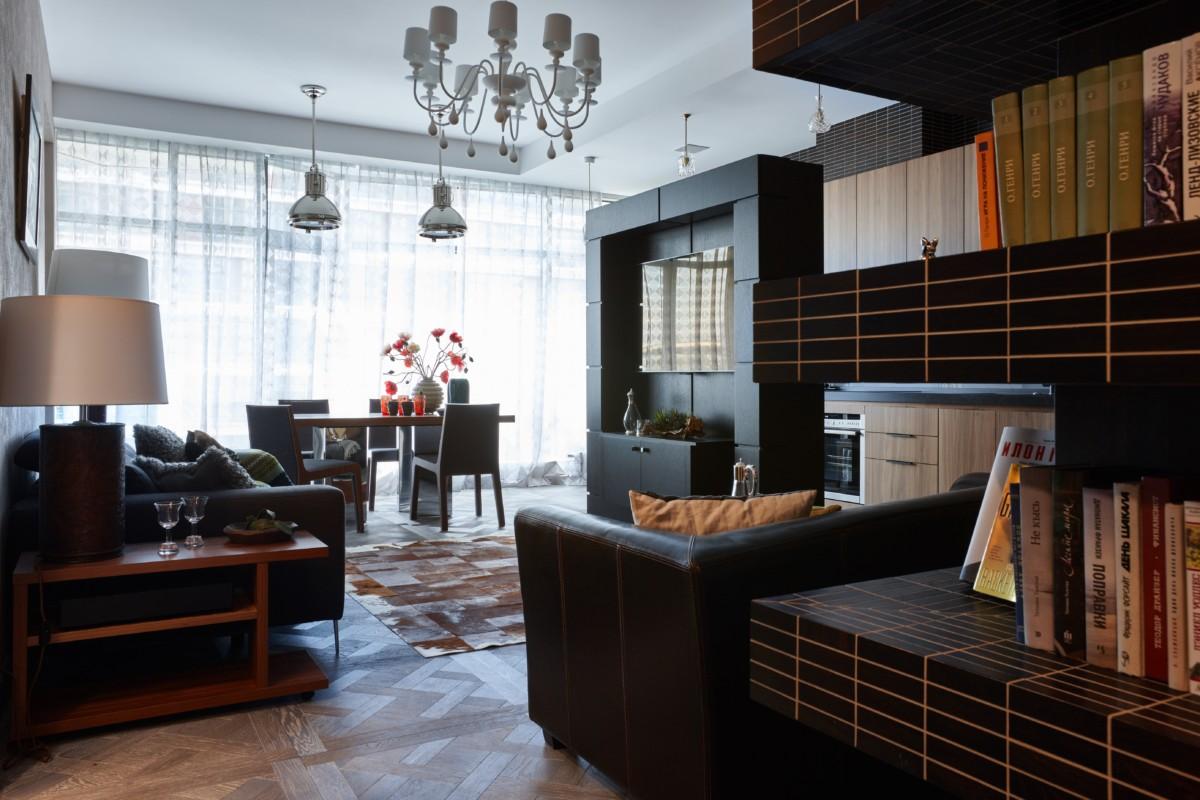 Вдохновляющий интерьер трёшки в Москве: 113 квадратов современного стиля
