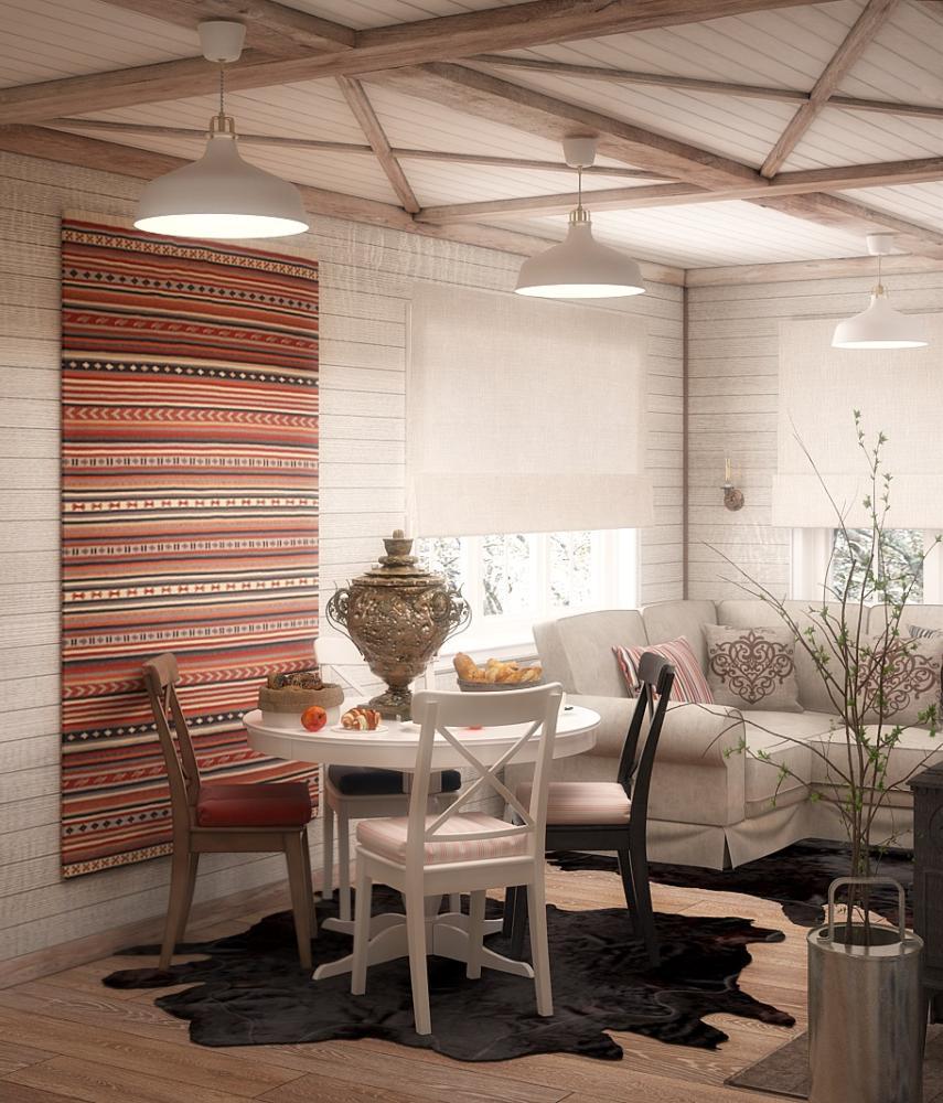 Кухня/столовая в  цветах:   Бежевый, Бордовый, Желтый, Коричневый, Темно-коричневый.  Кухня/столовая в  стиле:   Кантри.