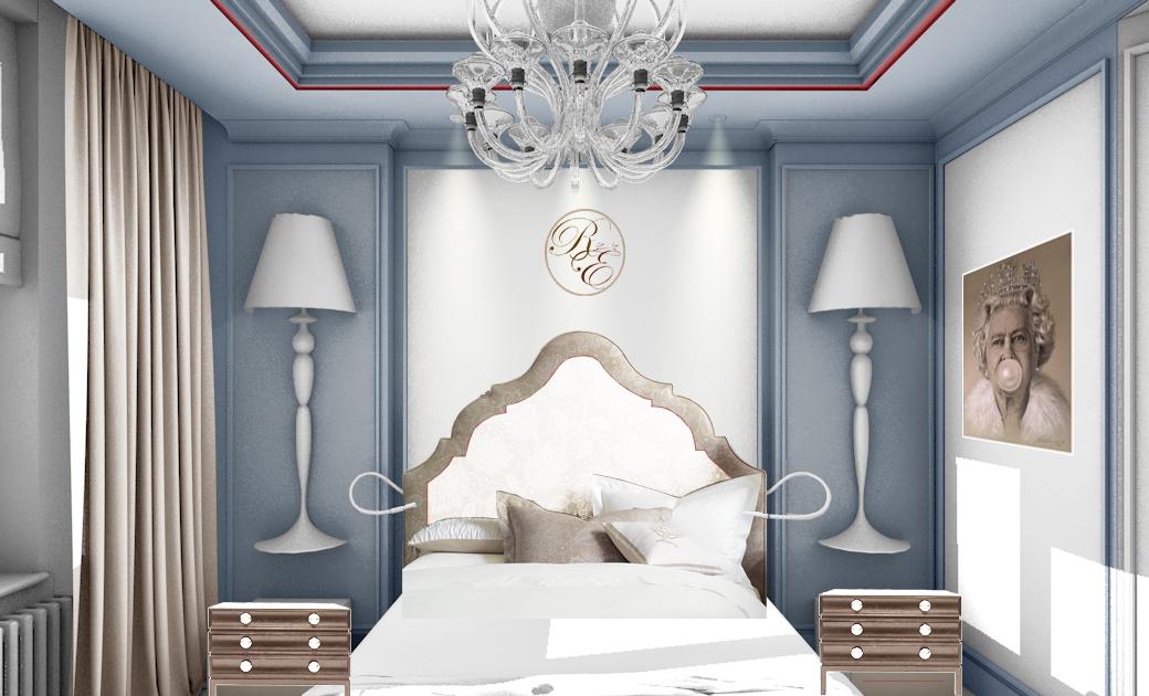 Эскиз-коллаж спальни в квартире в ЖК «4 солнца». Проект на стадии декорирования. Совсем скоро появятся фото этого проекта.