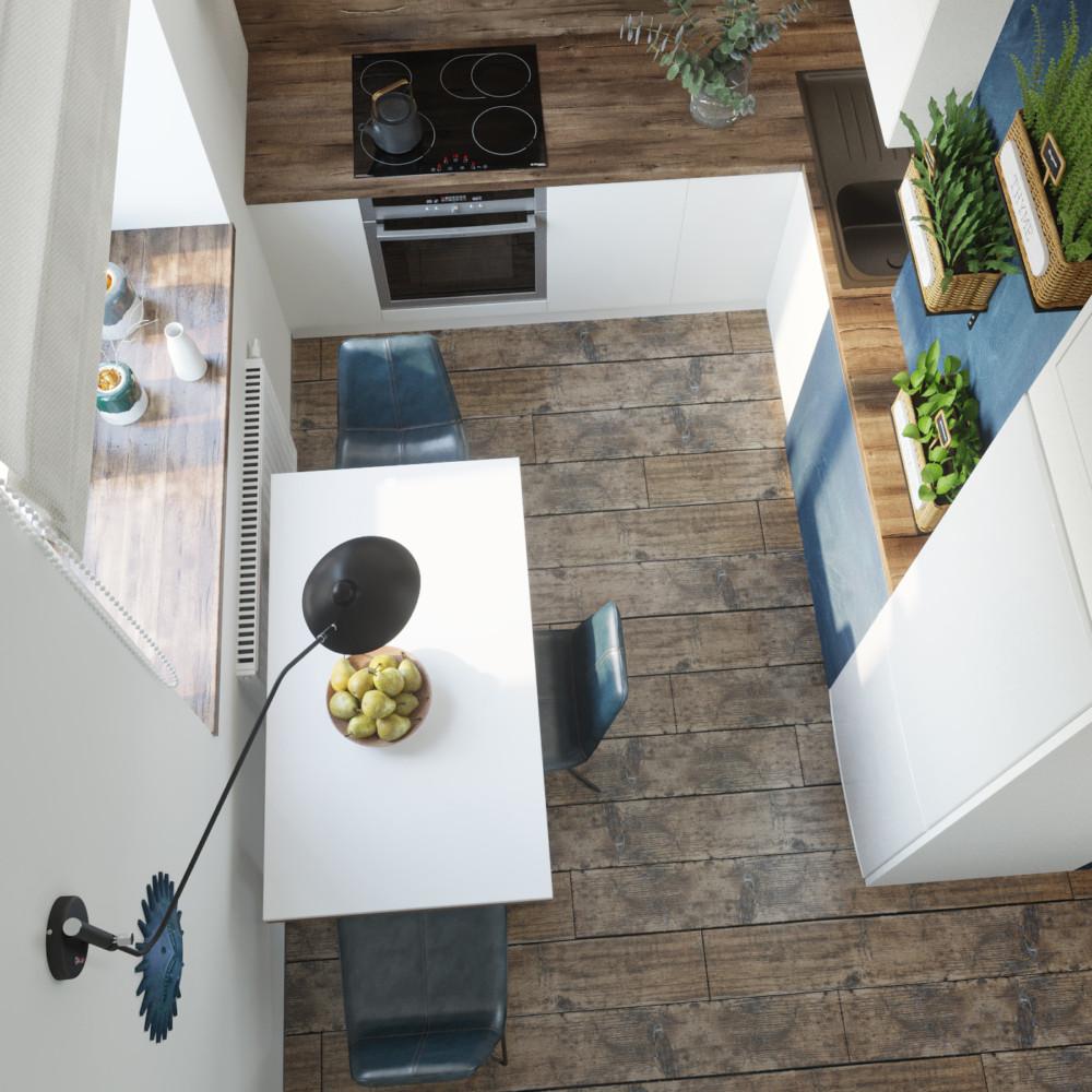 Кухня, вид сверху.