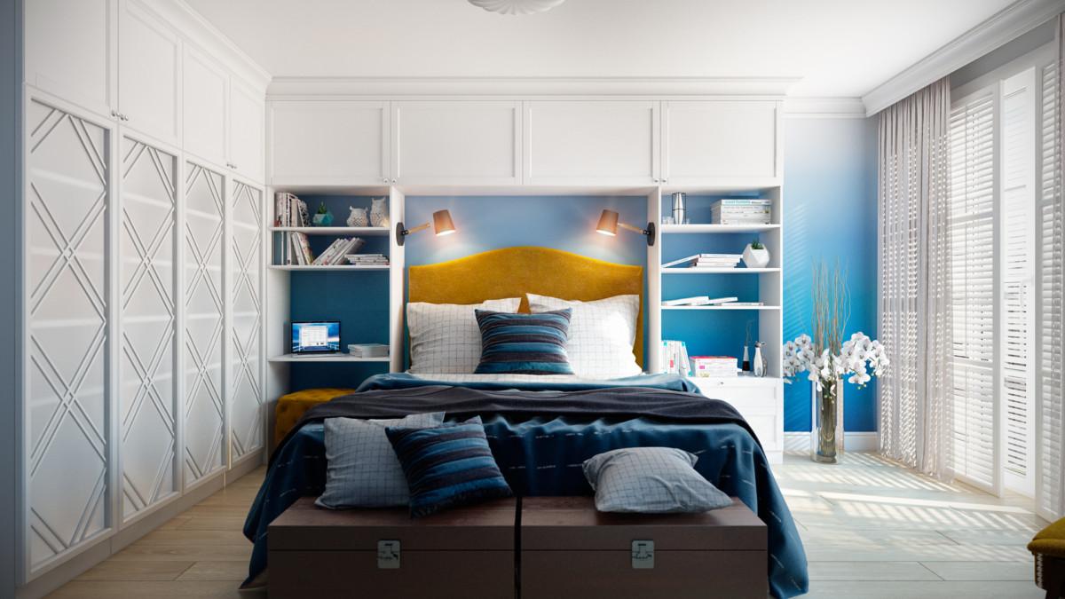 интерьер спальни хозяев