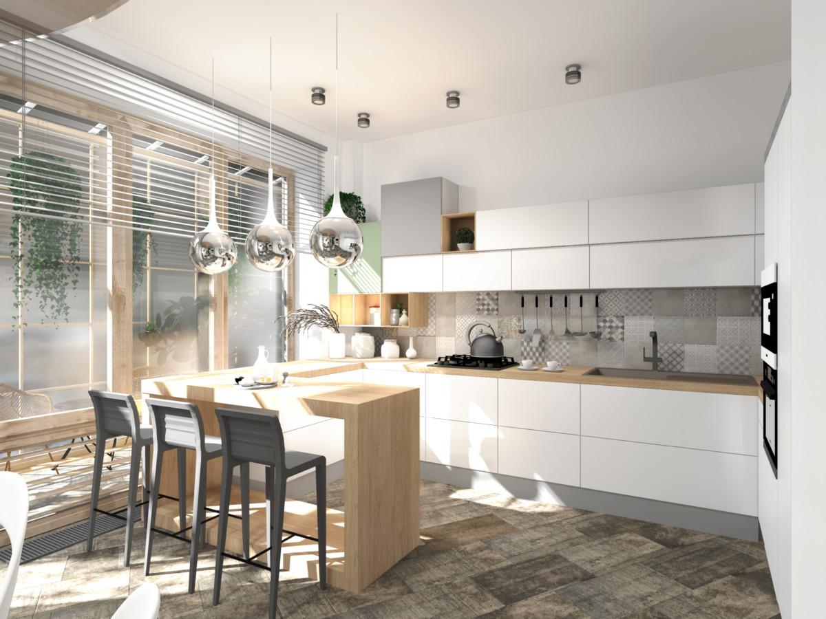 Кухня/столовая в  цветах:   Бежевый, Коричневый, Темно-зеленый.  Кухня/столовая в  стиле:   Минимализм.