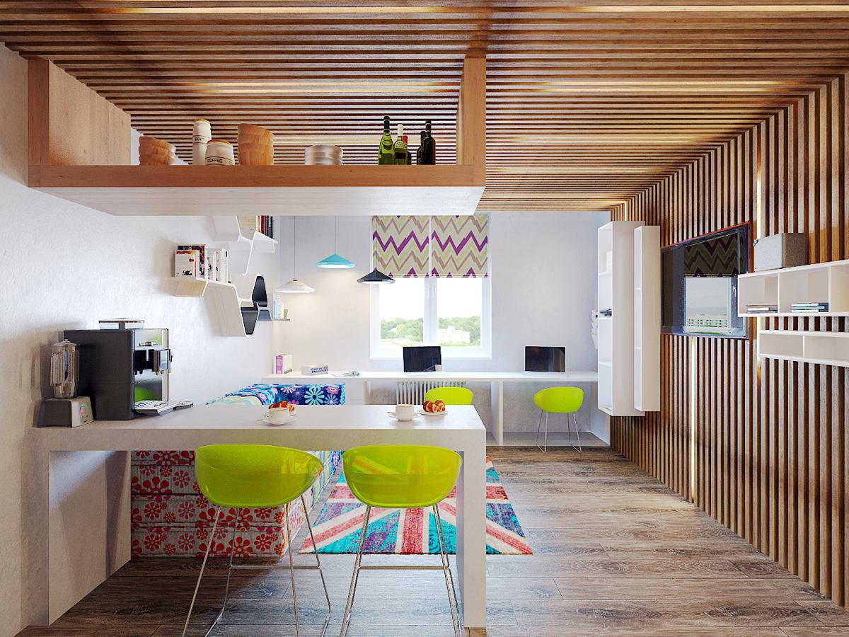 7 двухкомнатных квартир в скандинавском стиле