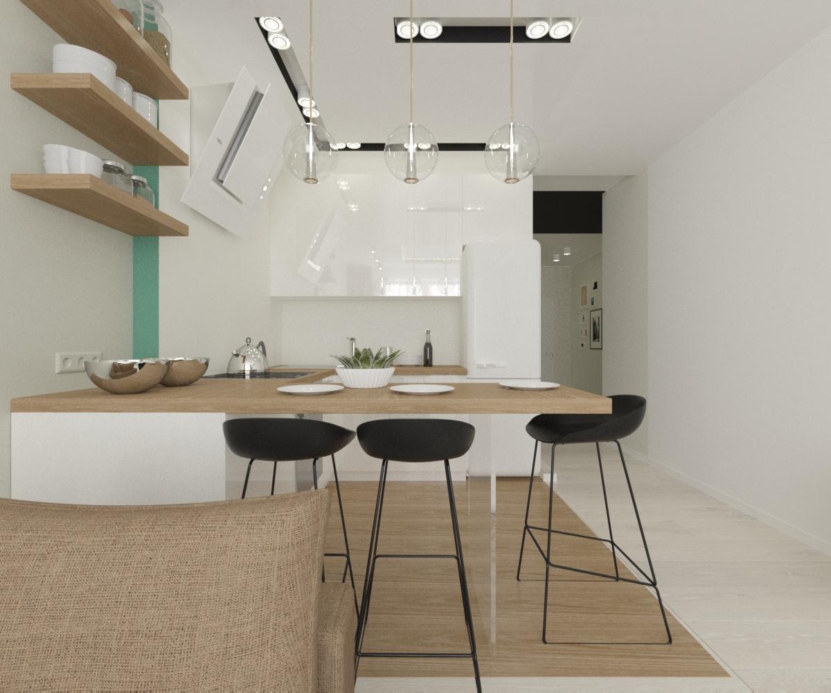 Настроение лёгкости в светлой семейной квартире