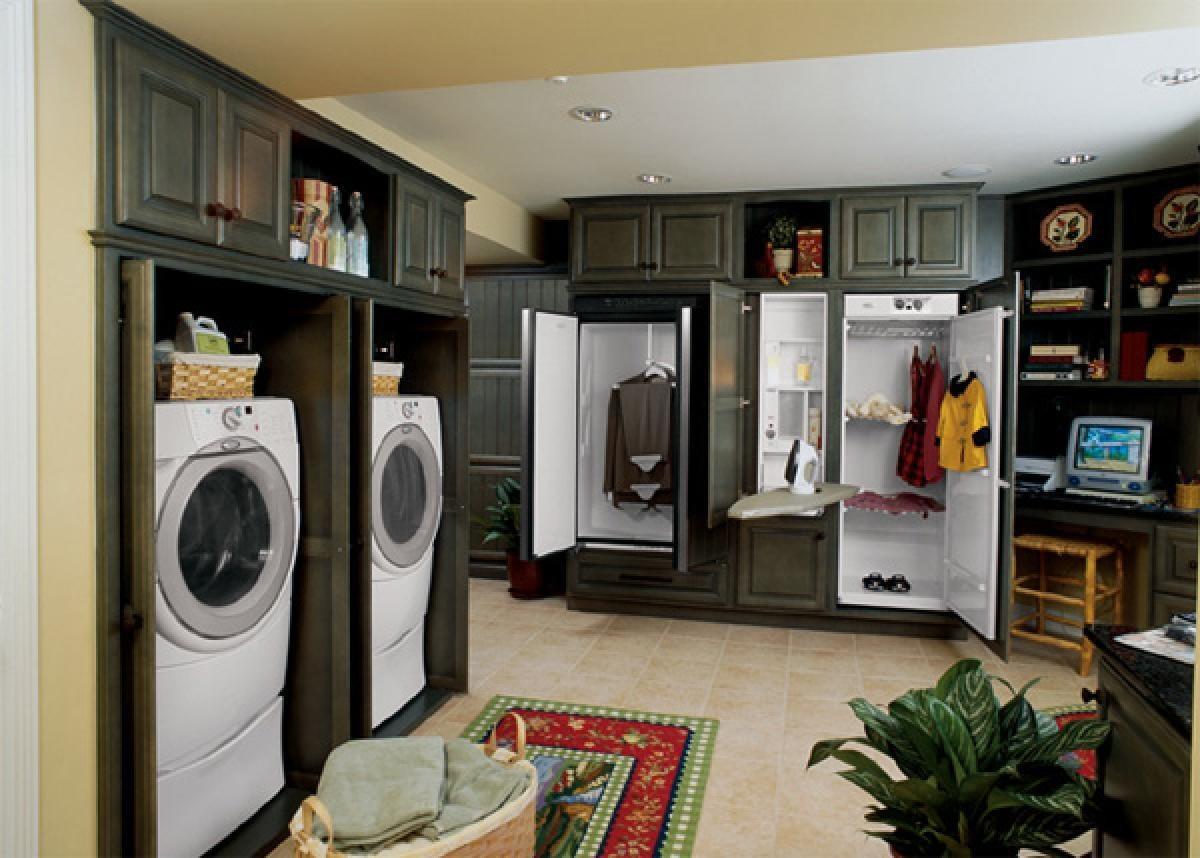 Как и где правильно разместить стиральную машину и домашнюю прачечную