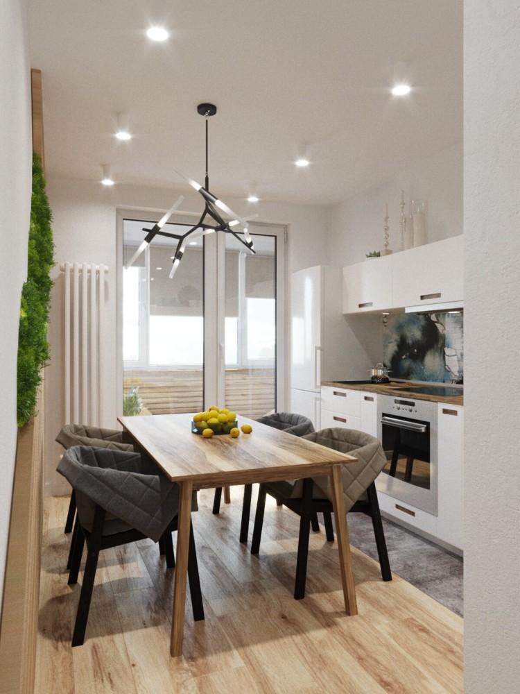 Кухня/столовая в  цветах:   Бежевый, Коричневый, Светло-серый, Темно-зеленый.  Кухня/столовая в  .