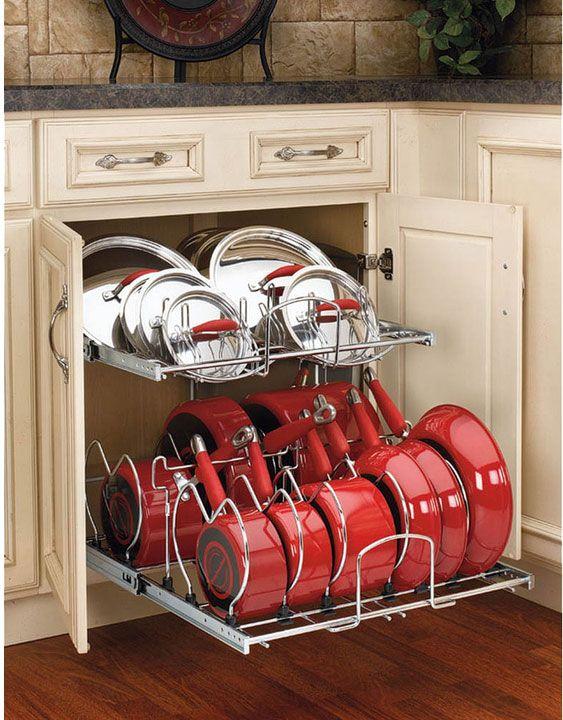 Best 25+ Pan Organization Ideas On Pinterest   Kitchen Cabinet Storage, Organize  Kitchen Cupboards And Kitchen Space Savers