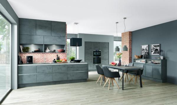 Кухня/столовая в  цветах:   Бирюзовый, Красный, Оранжевый, Серый, Фиолетовый.  Кухня/столовая в  стиле:   Лофт.