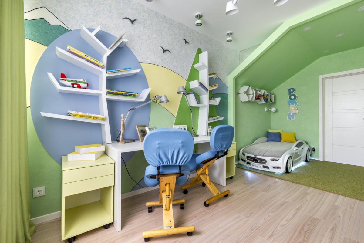 Необычный интерьер детской комнаты для мальчиков