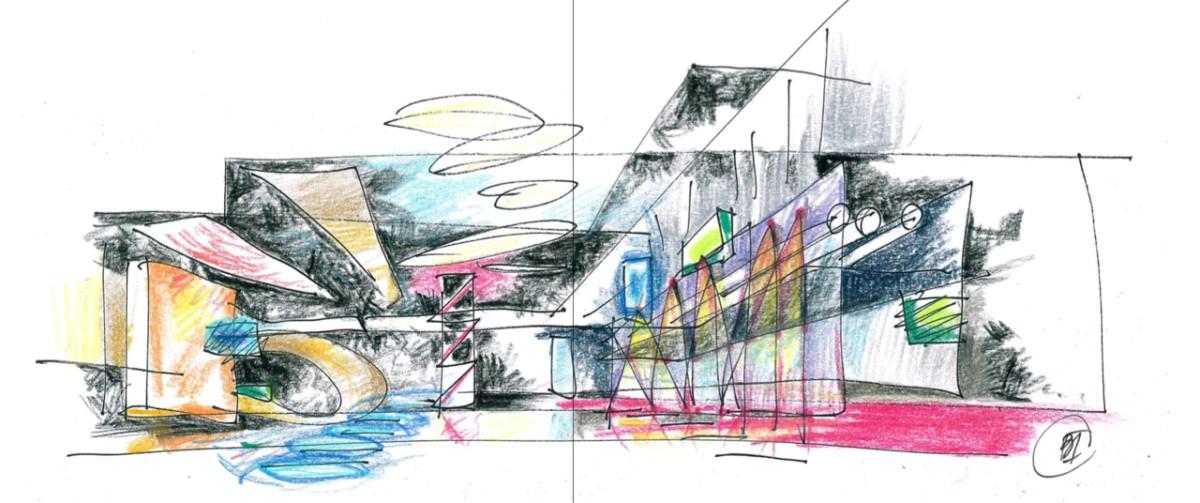 В Москве открылась выставка архитектурной графики Александра Балабина