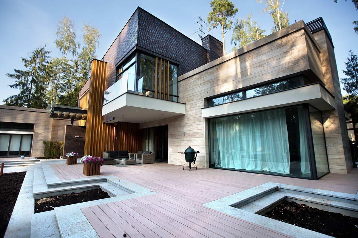 Архитектура в  цветах:   Бежевый, Бирюзовый, Коричневый, Фиолетовый.  Архитектура в  стиле:   Минимализм.