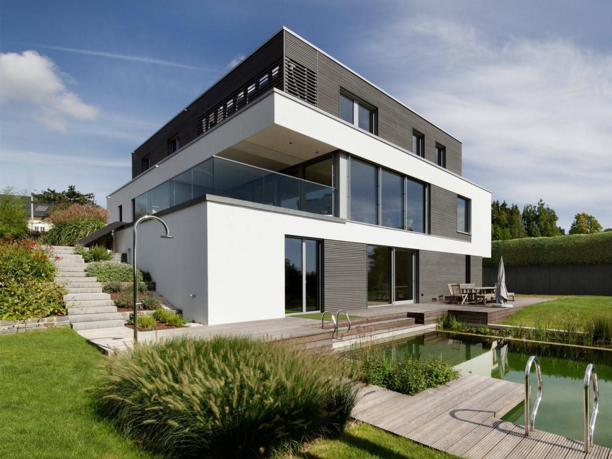 Стиль баухаус в частной архитектуре