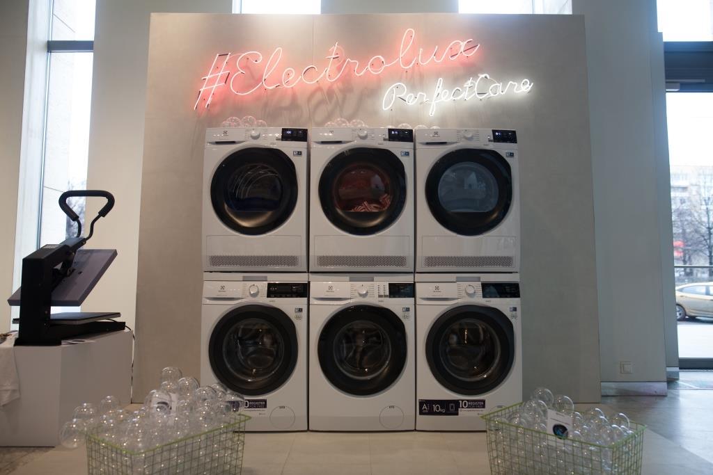 Компания Electrolux представила новую коллекцию техники по уходу за бельём