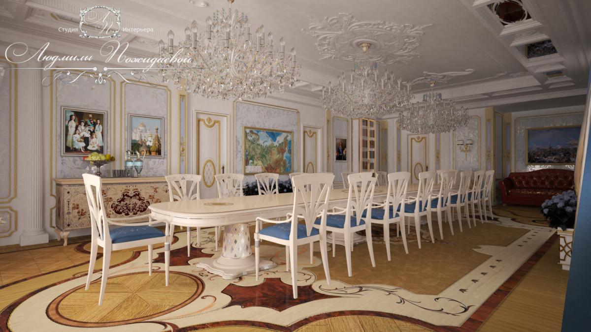 Картины отражают тематику помещения и историю страны Российской.