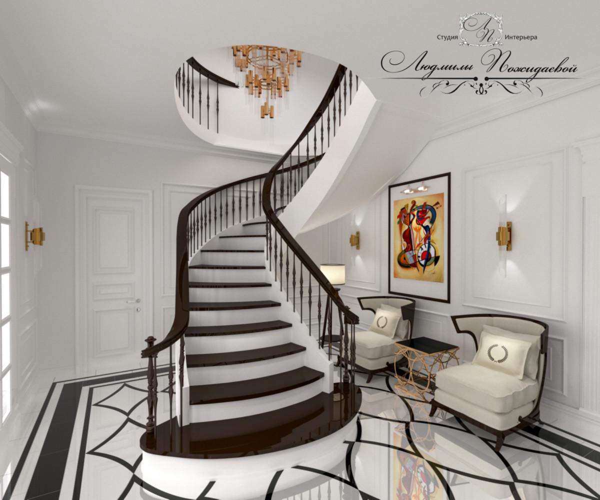 Удобная и красивая лестница - предмет гордости хозяев жилища.
