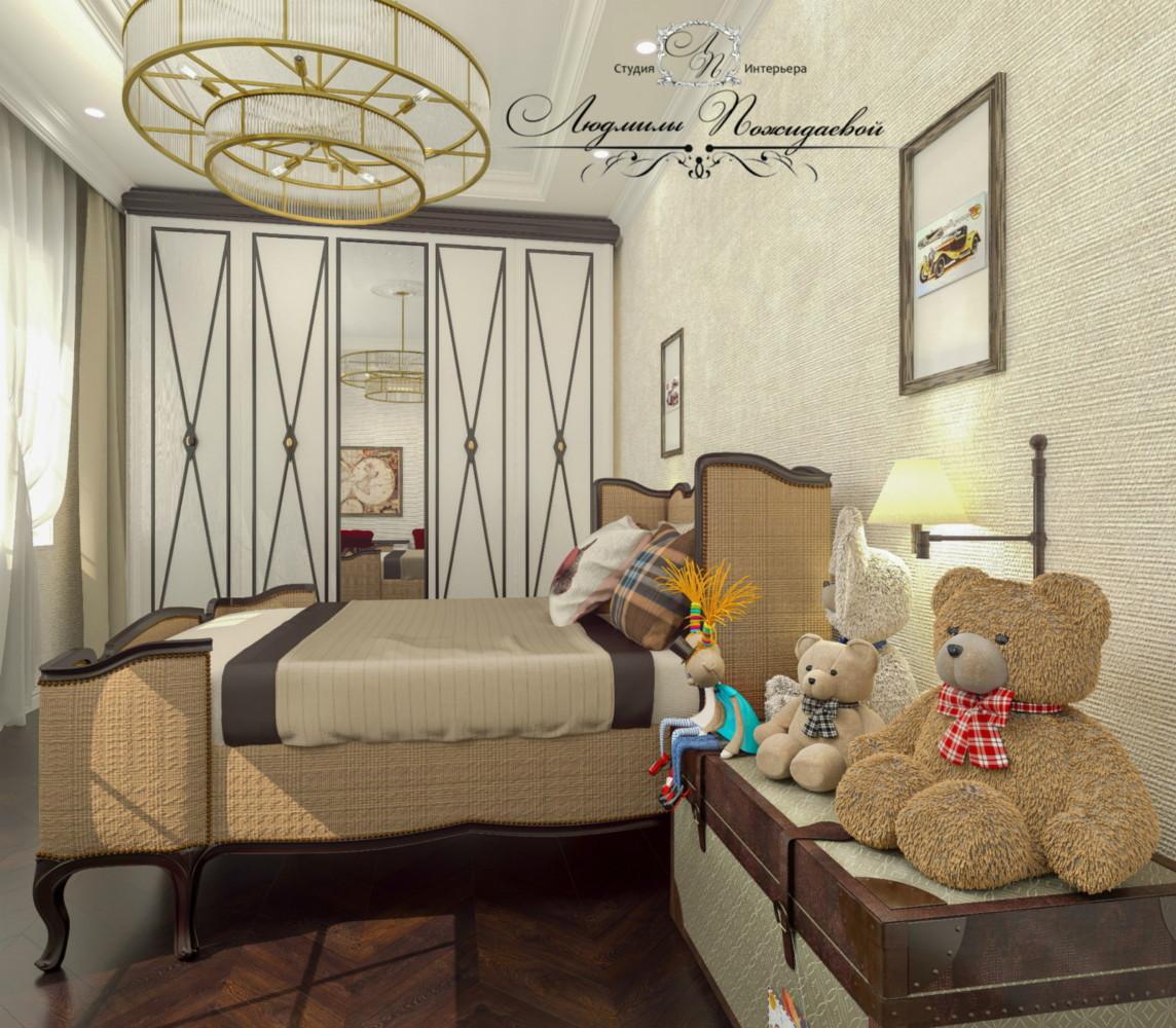 Спальня для подростка - не простая задача для дизайнера, как соблюсти равновесие между еще детством и не сделать спальню взрослой.  Не забудем перевести и любимые детские игрушки, вместо тумбочек еще можно какое -то время использовать сундуки.