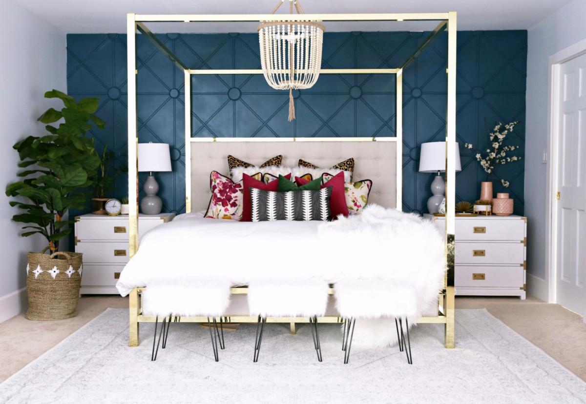 5 вариантов расстановки мебели в спальне типовой квартиры
