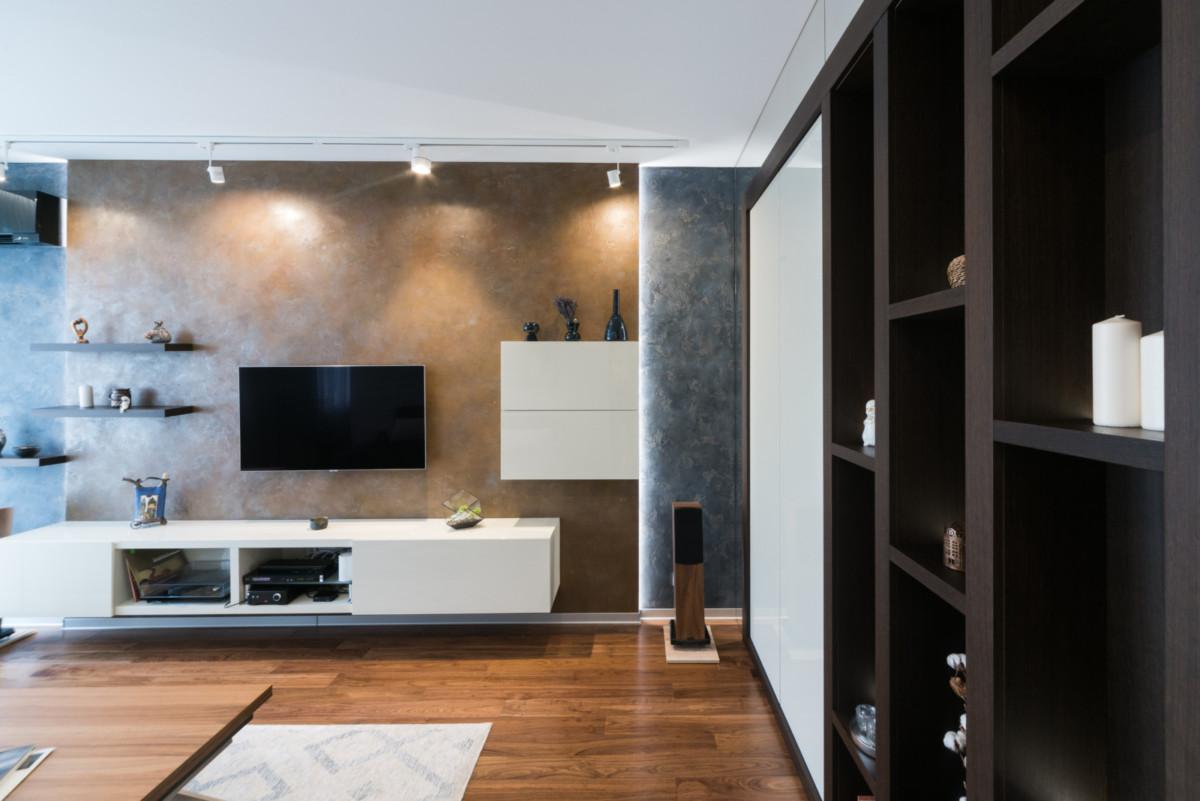 Двухкомнатная квартира с раздвижными перегородками