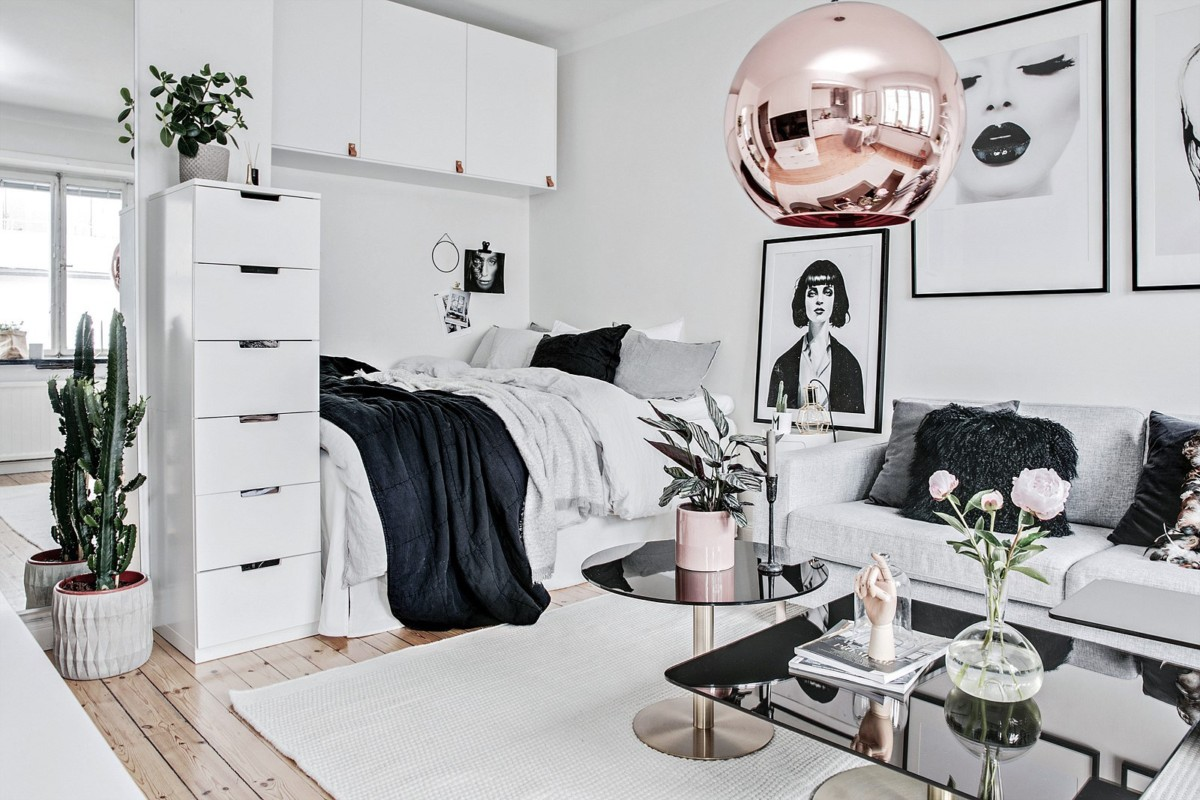 Перепланировка однокомнатной квартиры в студию: 31 метр