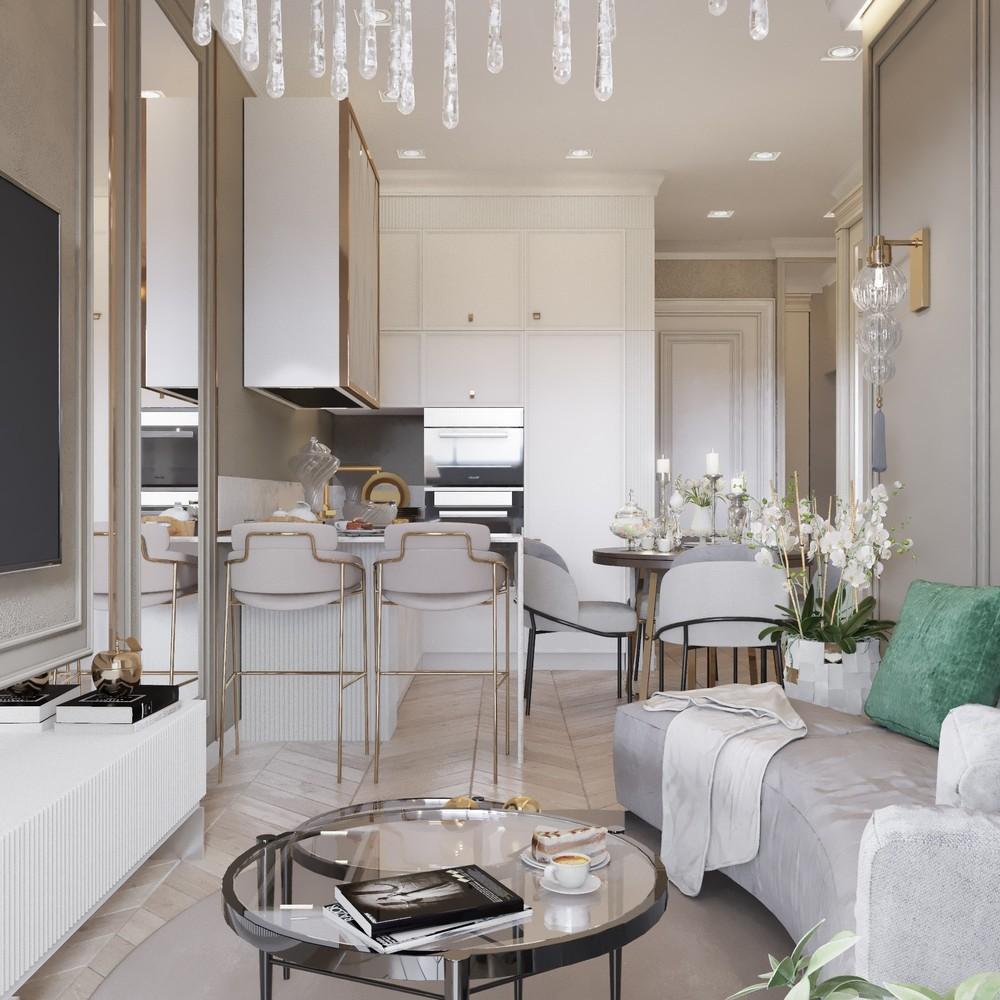 Дизайн квартиры мечты в светлых тонах
