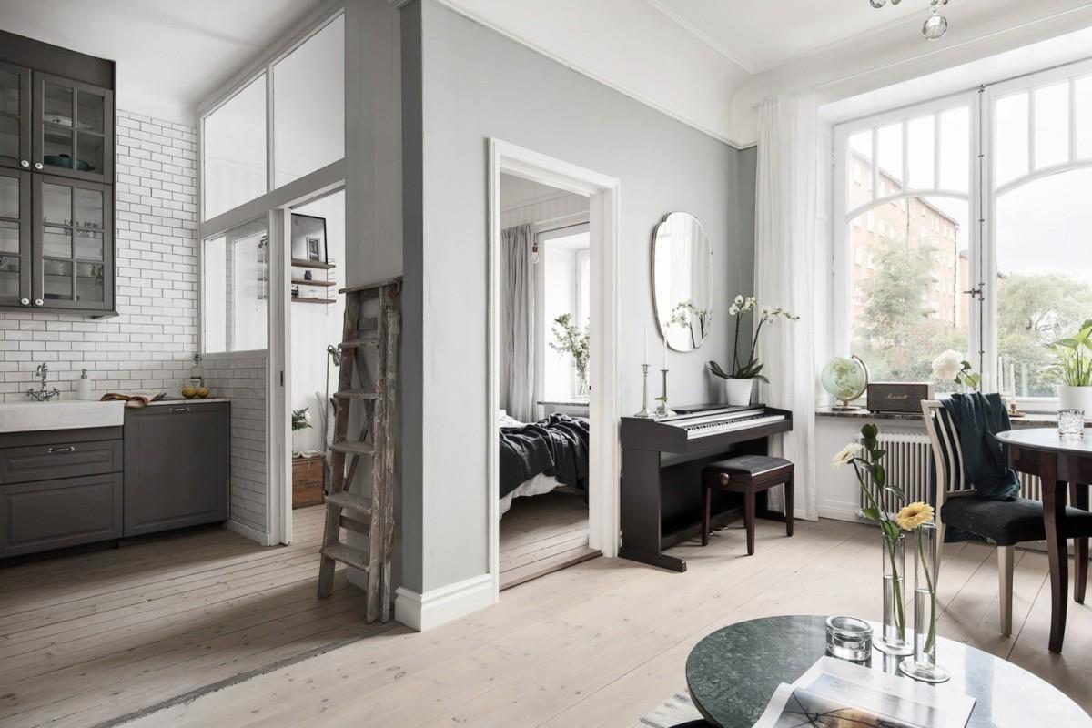 Скандинавский проект однокомнатной квартиры площадью 40 метров