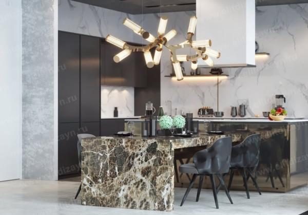 Кухня/столовая в  цветах:   Бежевый, Коричневый, Светло-серый, Серый, Темно-коричневый.  Кухня/столовая в  .