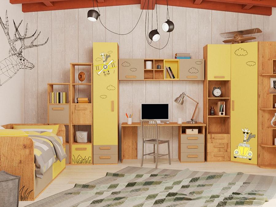«Умная» коллекция модульной детской мебели