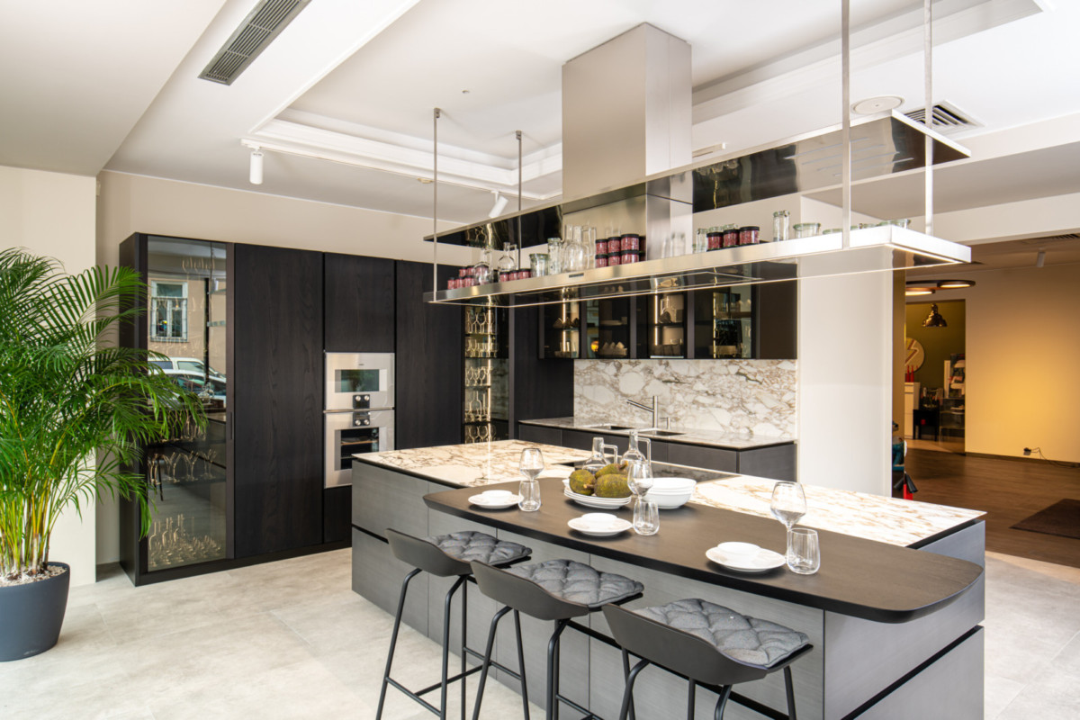 5 современных кухонь, которые можно легко объединить с гостиной