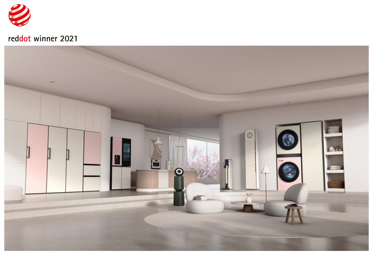Компания LG получила награду Red Dot Design Award за особое отношение к дизайну продукции