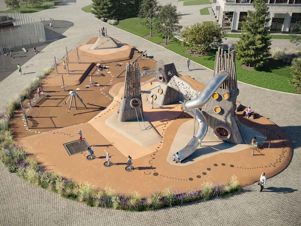 Девелоперская группа «ИНТЕКО» представила инновационную методику обустройства детских площадок